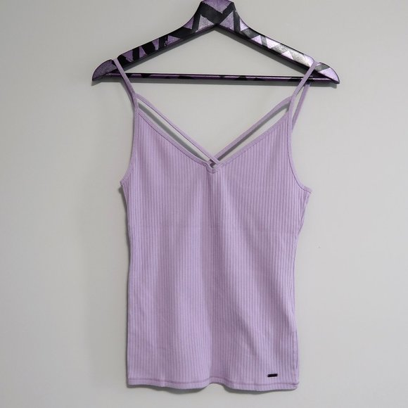 Hollister Ribbed Must-Have Strappy Cami Medium
